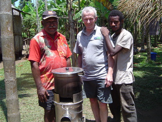 PNG Villagers with the Rocket Two-In-One Portable Food Cooker™